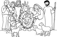 DISEGNI DI NATALE DA STAMPARE E COLORARE: PRESEPI E ...