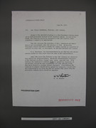 Cover letter to LBJ Library director to be opene