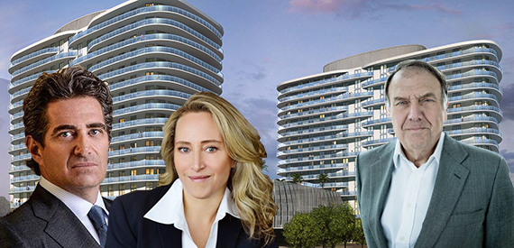 Rendering of SoLe Mia and Jeff Soffer, Jackie Soffer and Richard LeFrak