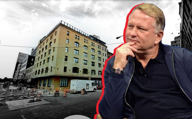 Soho House New York at 29-35 9th Avenue and Soho House CEO Nick Jones (Credit: Getty Images, Google Maps)