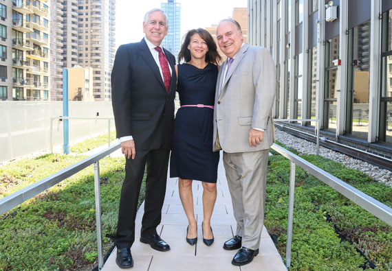 From left: Gary Rosenberg, Luise Barrack and Warren Estis, whose fi rm nabbed the No. 1 spot.