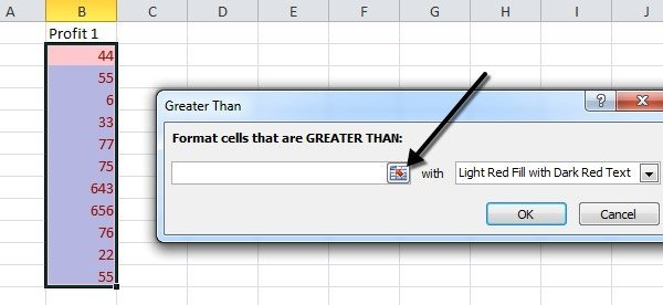 Format Cells using Conditional Formatting in Excel