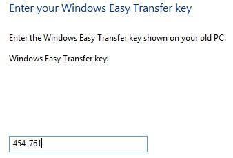 new transfer key