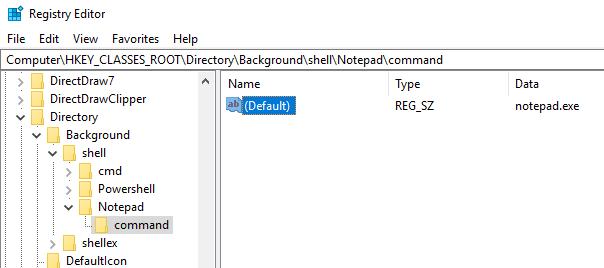 Windows 10 Registry Hacks context menu key