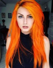 fashion style orange hair