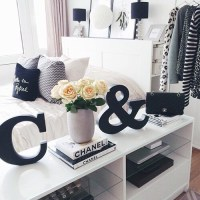 bedroom, black, black and white, chanel, goals - image ...
