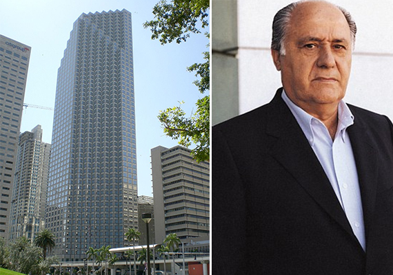 The Southeast Financial Center (Credit: Marc Averette) and Amancio Ortega