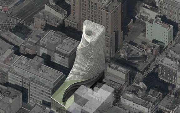 Cheryl Xu Lu's curving shell design for DDG at 325 West Broadway in Soho