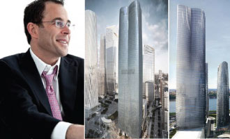 From left: Jeff Blau and 15 Hudson Yards