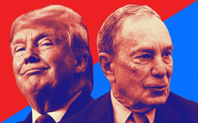 Donald Trump and Michael Bloomberg (Credit: Getty Images)