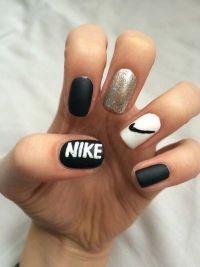 black #cute #girls #nails #nike #white - image #4399603 by ...