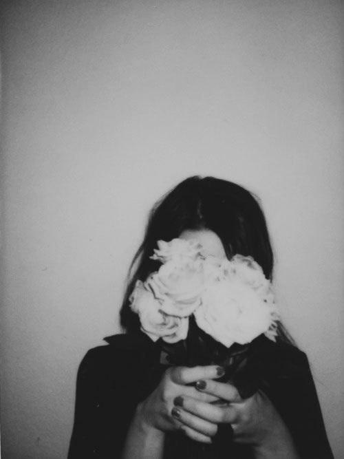 Sad Girl Hidden Face Wallpaper Even The Rose Hurts Image 4907543 By Tschissl On Favim Com