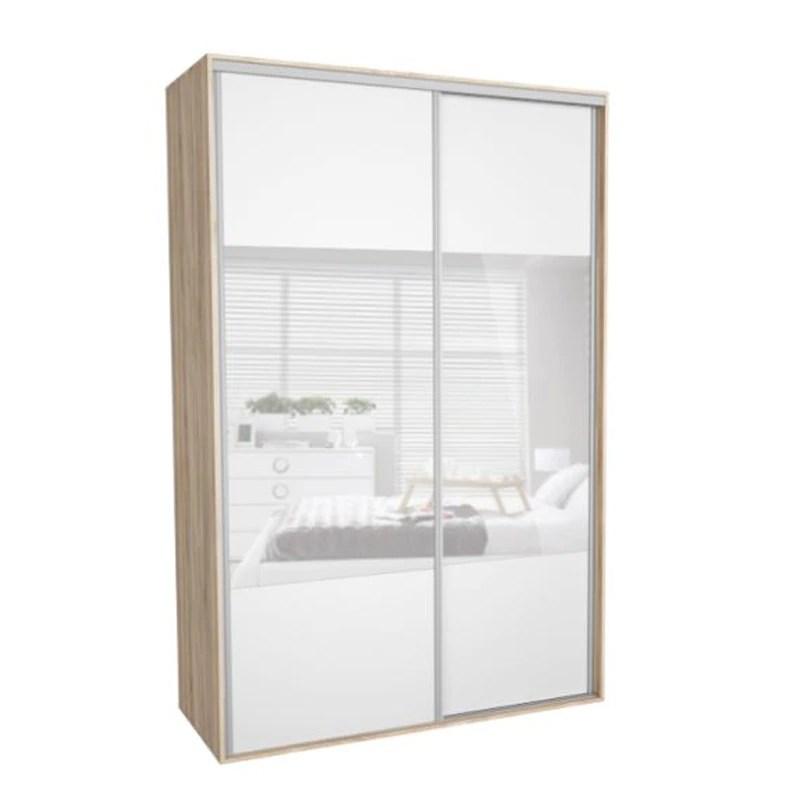 dressing kadir 160 2b front alb oglinda genarom 160 x 242 x 67 cm