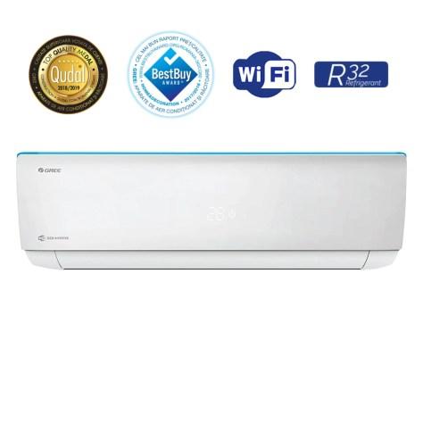 Aparat de aer conditionat Gree Bora A4 R32 GWH12AAB-K6DNA4A Inverter 12000 BTU, Clasa A++, G10 Inverter, Buton Turbo, Auto-diagnoza, Wi-FI, Display