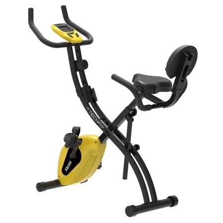 Bicicleta verticala magnetica Techfit XB300, pliabila, Greutate utilizator 120 kg, Computer antrenament, 5 functii afisate, 8 trepte de intensitate