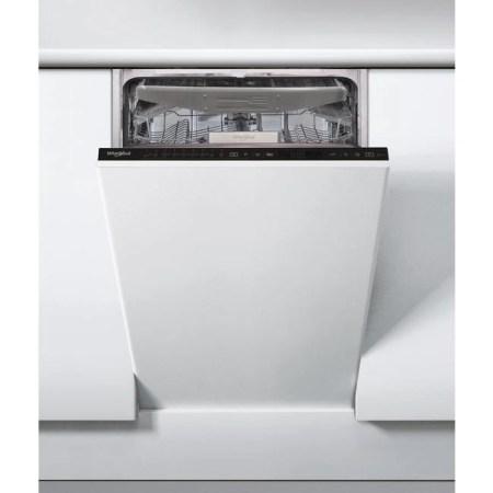 Masina de spalat vase incorporabila Whirlpool WSIP4O33PFE, 10 seturi, 9 programe, 6th Sense, Power Clean, Clasa A+++, 45 cm