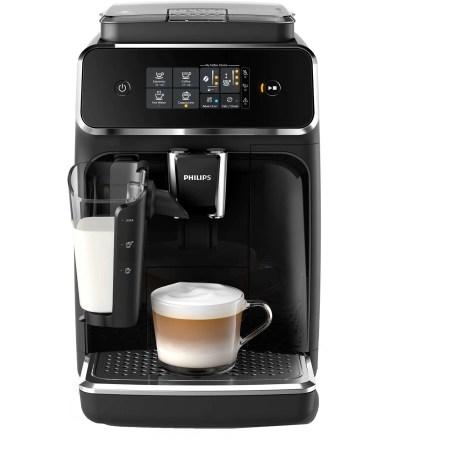 Espressor automat Philips EP2231/40, sistem LatteGo, 3 bauturi, filtru AquaClean, rasnita ceramica, optiune cafea macinata, ecran tactil, Negru