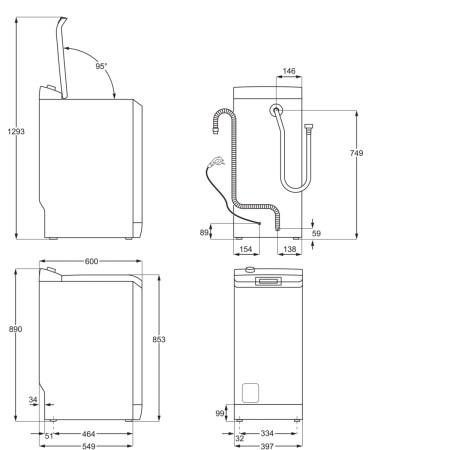 Masina de spalat rufe cu incarcare verticala AEG LTX7C373E, 7 kg, 1300 RPM, Tehnologie ProSteam, Motor Inverter, Display LCD, Iluminare Tambur, Clasa A+++, Alb