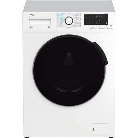 Masina de spalat rufe cu uscator Beko HTV8716BWST, 1400 RPM, Spalare 8 kg, Uscare 5 kg, Clasa A, Motor ProSmart Inverter, HomeWhiz, Conectare Bluetooth, Steam Cure, Alb