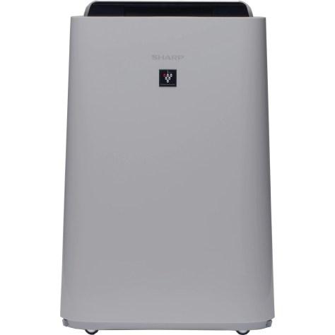 Purificator de aer cu umidificator Sharp UA-HD40E-L, 3 modele de filtrare, 4 senzori de praf, Plasmacluster Ion Technology, 26m², alb