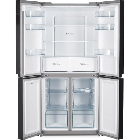 Side by side Heinner HSBS-M469MNFDX+, 469 l, Clasa A+, Full No Frost, Display touch, Control electronic, H 177.5 cm, Dark Inox