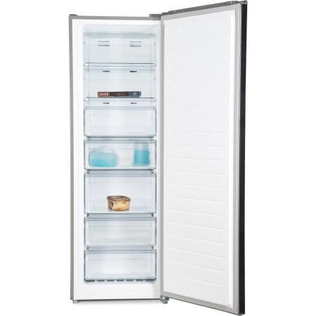Congelator Heinner HFF-M232NFX+, 227 l, 2 rafturi, 5 sertare, Clasa A+, Full No Frost, Sistem Convertibil Frigider/Congelator, Display touch, H 172 cm, Antracit