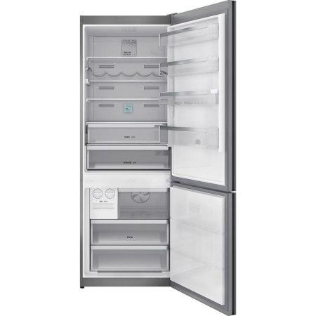 Combina frigorifica Teka RBF 78720 GBK, 461 l, Clasa E, LongLife No Frost, Display, IONCLEAN, H 192 cm, Negru