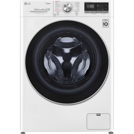Masina de spalat rufe LG F4WN609S1, 9 kg, 1400 RPM, Clasa A+++, Direct Drive, Turbo Wash, Steam, Smart Diagnoisis, WiFi, Alb