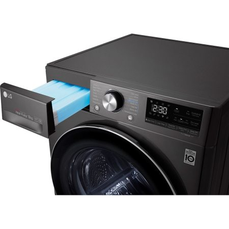 Uscator de rufe LG RC90V9JV2Q, Pompa de caldura, 9 kg, 14 programe, Clasa A+++, Motor Dual Inverter, Antracit