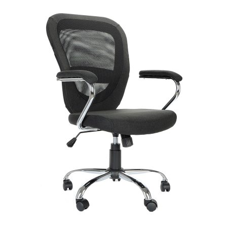 Scaun de birou ergonomic Kring Adelle, Mesh, Negru