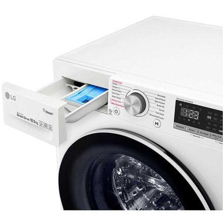 Masina de spalat rufe LG F4WV510S0, 10.5 kg, 1400 RPM, Clasa A+++, Motor AI Direct Drive Inverter, Steam, WiFi, Alb