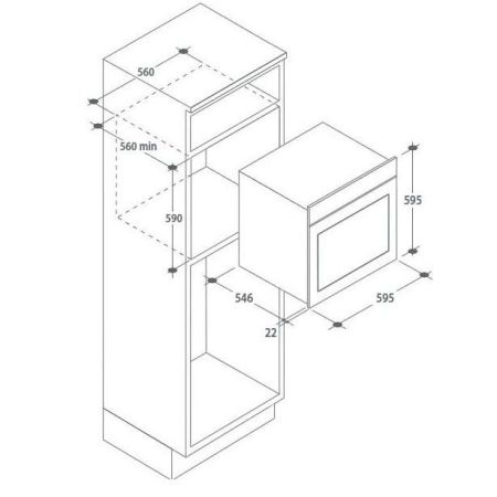 Cuptor incorporabil Candy FSCTX615 WIFI, Electric, 70 l, Clasa A, Display, Inox