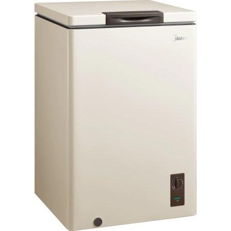 Lada frigorifica MIDEA MDRC152SLG34W, 99l, Functie frigider, LED, Clasa F, Bej