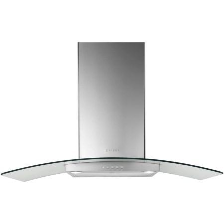 Hota incorporabila decorativa Faber RAY SRM LED X/V A90, Putere de absorbtie 420 mc/h, 1 motor, Iluminare LED, 90 cm, Inox/Sticla