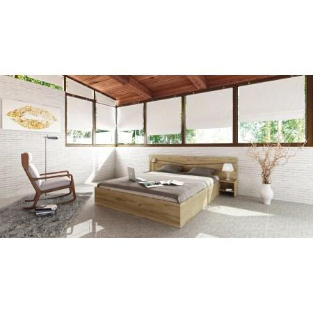 Pat Irim Milano, 160x200 (204.5x226x78 cm), 2 noptiere, Stejar Dakota