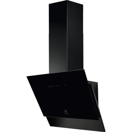 Hota incorporabila decorativa Electrolux LFV416K, Putere absorbtie 600 m3/h, LEDSpot, Control touch, 60 cm, Negru