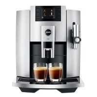 Espressor automat Jura E8 2020 Professional Aroma Moonlight Silver, 1450W, 15 bar, 17 bauturi, sistem lapte, Negru/Argintiu