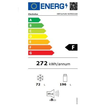 Combina frigorifica incorporabila ELECTROLUX KNT2LF18S, 267 l, H 177.2 cm, Clasa F, Alb