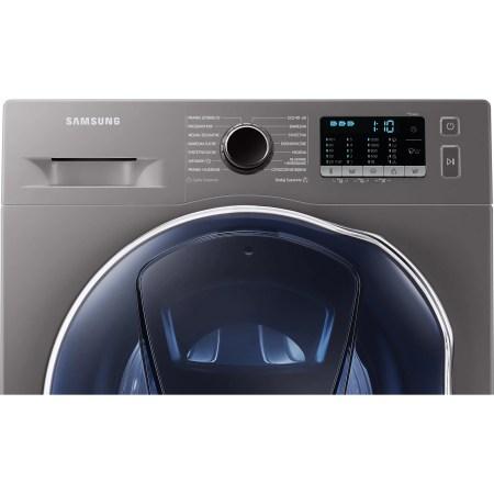 Masina de spalat rufe cu uscator Samsung Slim WD8NK52E0ZX/LE, 8 kg spalare, 5 kg uscare, 1200 rpm, Clasa C, Motor Digital Inverter, Eco Bubble, Air Wash, Add Wash, Steam, Inox