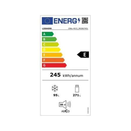 Combina frigorifica LIEBHERR CNbs 4015, 356 l, NoFrost, Comfort, Clasa E, H 201.1 cm, Dark Inox