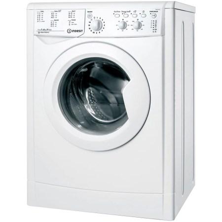 Masina de spalat rufe slim Indesit IWSC 61051 CECO EU, 6 kg, 1000 rpm, Clasa A+, Alb