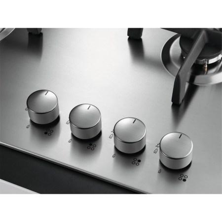 Plita incorporabila AEG HG654550SM, Gaz, 4 arzatoare, Aprindere electrica integrata, 60 cm, Inox