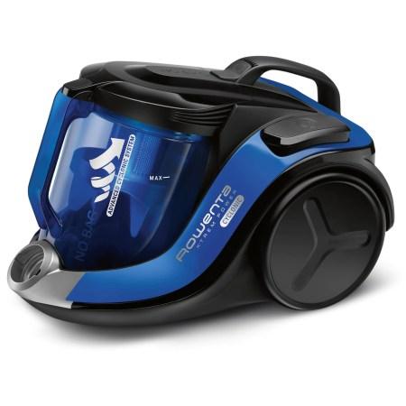 Aspirator fara sac Rowenta X-Trem Power RO6921EA, 750W, Tub telescopic din metal, Recipient de 2.5L, Easy Brush, Albastru