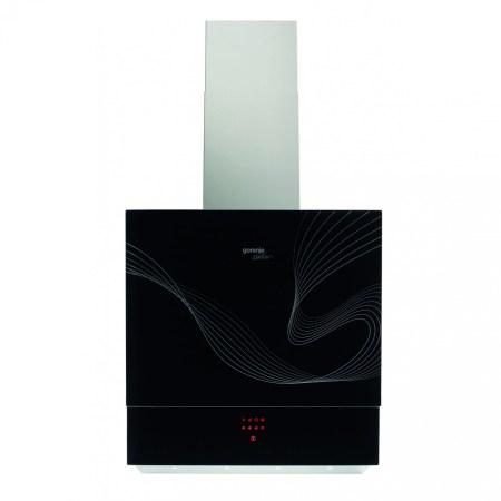 Hota incorporabila decorativa Gorenje Karim Rashid DVG6565KR, putere de absorbtie 463 mc/h, 1 motor, 1 filtru, 60 cm, Negru