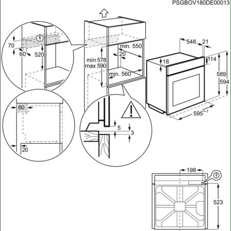 Cuptor incorporabil Electrolux EOF3C50TX, Electric, 72 l, Autocuratare catalitica, Timer, Grill, SenseCook, Clasa A, Inox