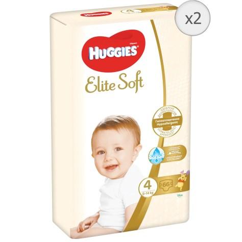 Scutece Huggies Elite Soft 4, 8-14 kg, 132 buc