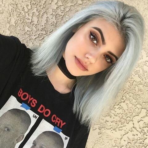 white perfection grey hair color image by marine21 on favim