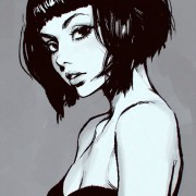 art black hair short beautiful