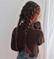 blonde cute french braids
