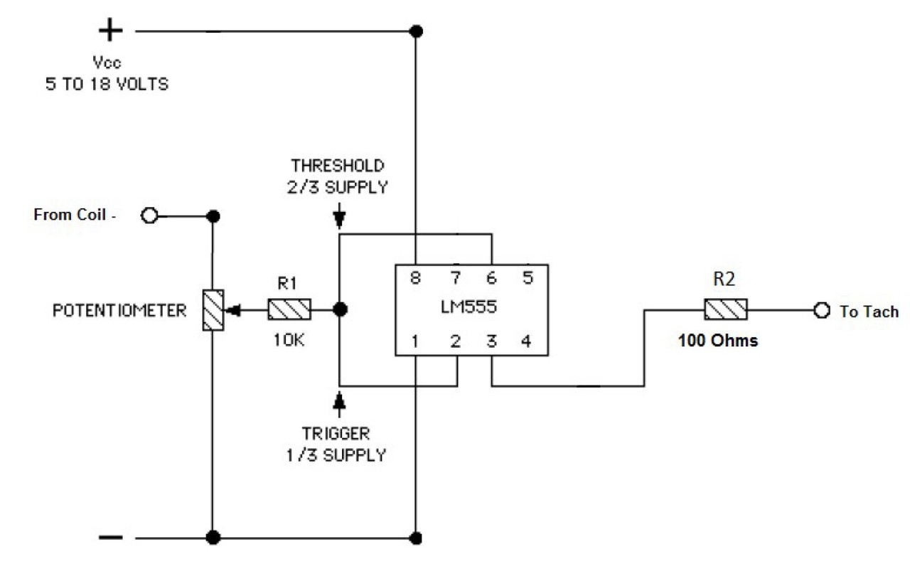 hight resolution of once you know the best trigger voltage division across the coil off the pot wiper you could replace the pot with 2 resistors across the coil